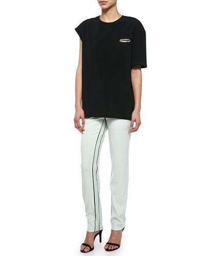 Berkeley One-Sleeve Boxy Top & Moodie Crepe Trousers