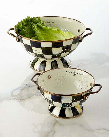 MacKenzie-Childs Courtly Check Small Colander