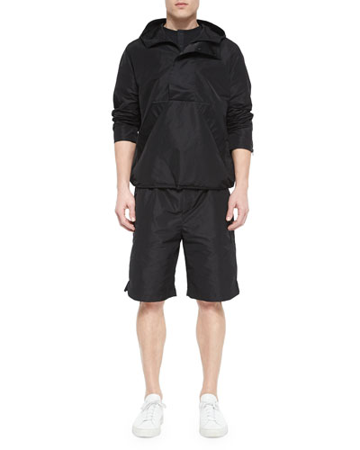 Nylon Hooded Pullover & Nylon Boxing Shorts