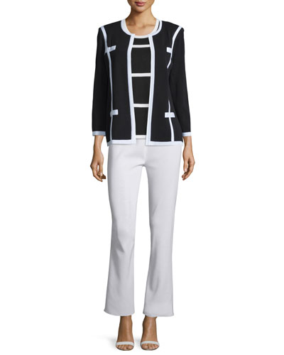 Milano Jacket, Striped Tank & Boot-Cut Pants