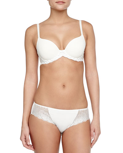 La Femme Contour-Cup Underwire Bra & Bikini Briefs, Gardenia