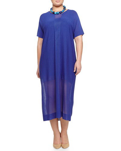 Galena Crepe Long Dress & Lauto Beaded Collar Necklace, Women's