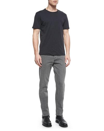Reversible Short-Sleeve Tee & Slim-Leg Skinny Jeans