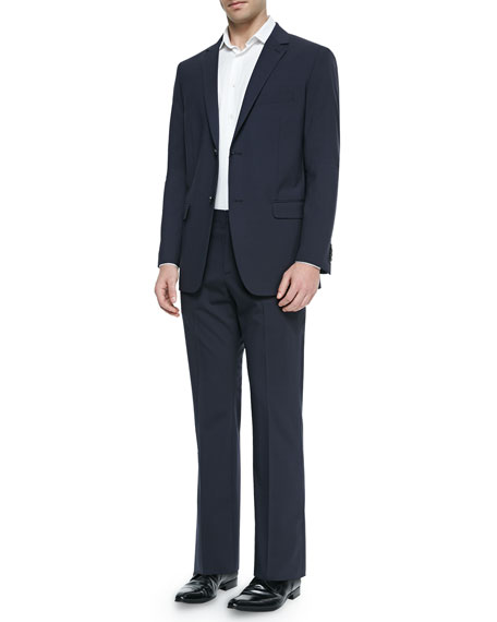 Theory Marlo New Tailor Suit Trousers, Navy
