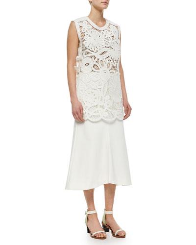 Mateo Crochet Apron Top & Agathe Fluted Skirt