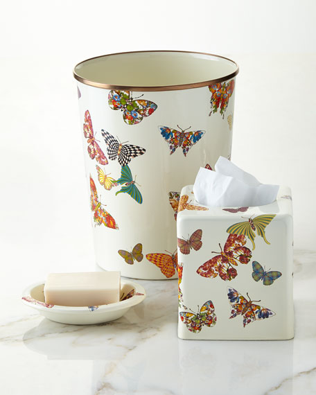 MacKenzie-Childs White Butterfly Garden Soap Dish