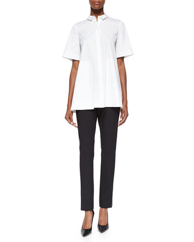 Lorenza Full Bottom Blouse & Bi-Stretch Two-Tone Pants