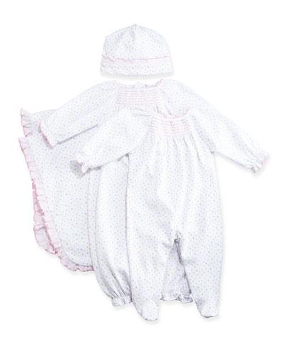 Summer Fun Polka Dot Blanket, Baby Hat, Footie Pajamas & Sleep Gown