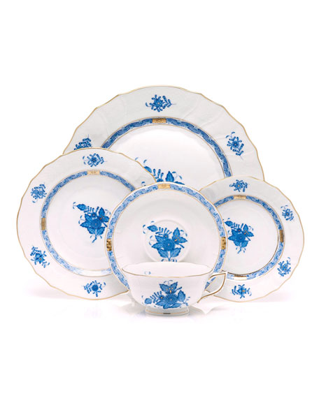 Herend Blue Chinese Bouquet Saucer