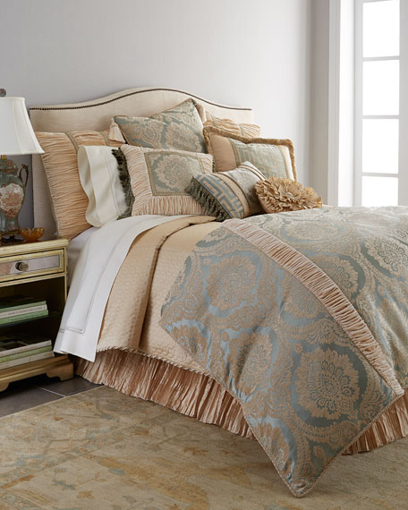 Neutral Modern Queen Quilted Silk Duvet Cover