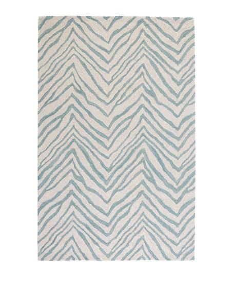 "Mikki Zebra-Print Rug, 7'6"" x 9'6"""
