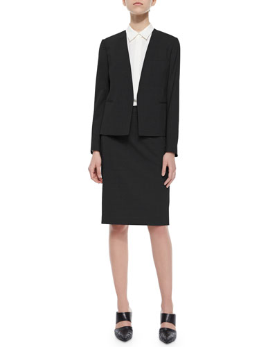 Theory Delaven Open-Front Suit Jacket, Tanelis Sleeveless Silk