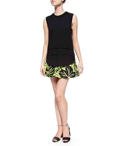 Sleeveless Shell Sweater & Paradise Orchid Circle Skirt