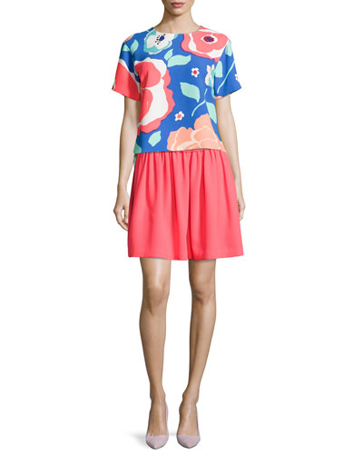 kate spade new york multi-floral ramona top &
