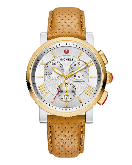 MICHELE 20mm Sport Sail Two-Tone Watch Head