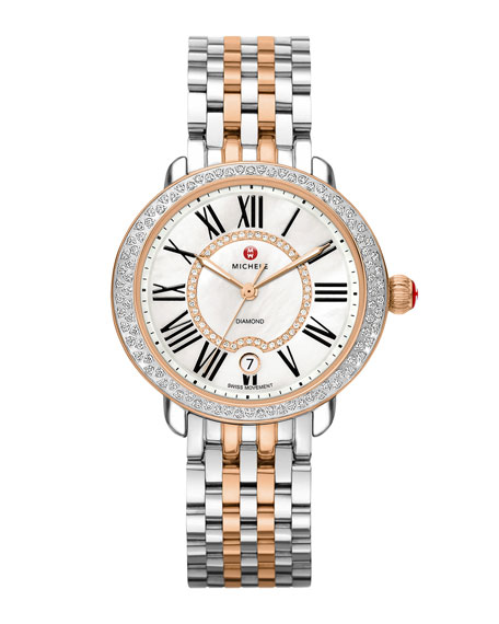 MICHELE Serein 16 Two-Tone Diamond Watch Head