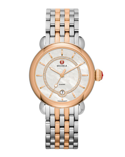 CSX-36 Elegance Diamond Watch head & Two-Tone Bracelet Strap