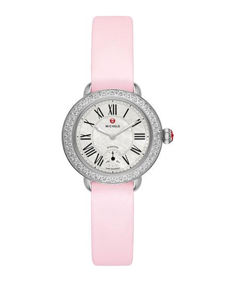 MICHELE 12mm Serein Diamond Stainless Watch Head
