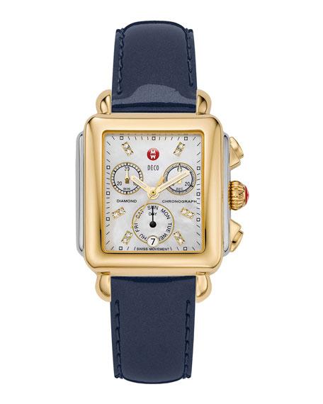 MICHELE 18mm Deco Diamond Watch Head, Two-Tone