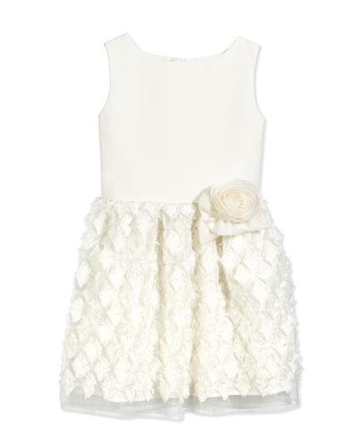 Sleeveless A-Line Party Dress, White