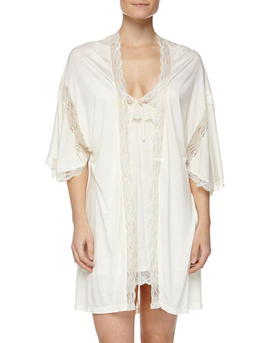 Something Blue Robe & Chemise, Ivory