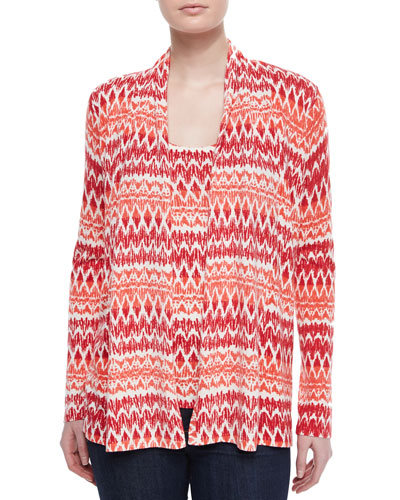 Ikat Striped Cashmere Cardigan & Tank