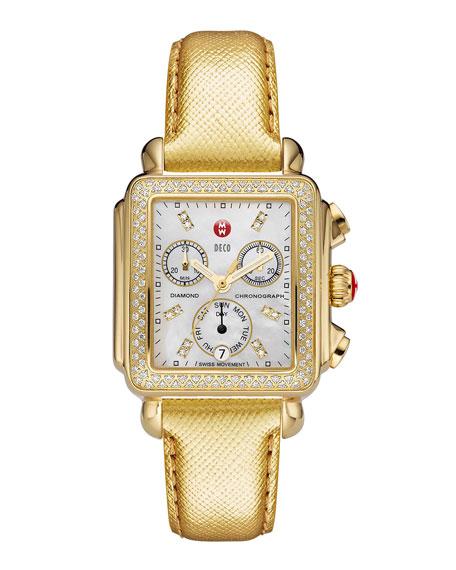 18mm Deco Diamond Watch Head, Gold