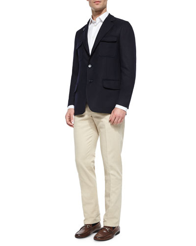Washington Reversible Cashmere-Blend Jacket & St. Malo Regular-Fit Dyed Pants