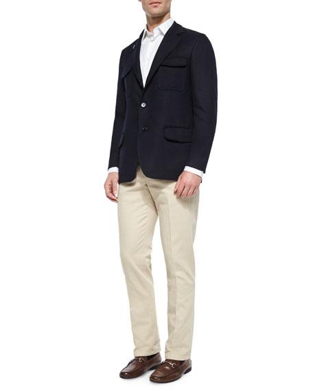 Loro Piana Washington Reversible Cashmere-Blend Jacket, Navy
