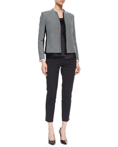 Lafayette 148 New York Marcy Geometric-Print Zip-Front Jacket