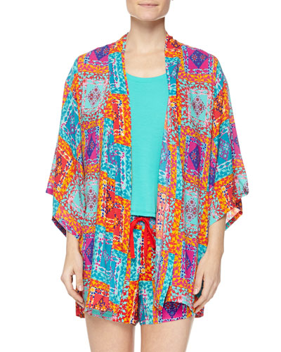 Avventura Printed Happi Coat, Swing Tank with High-Low Hem & Printed Shorts