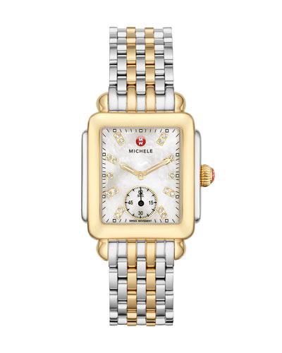 Deco 16 Two-Tone 18-Diamond Watch Head & 16mm New Deco Bracelet Strap