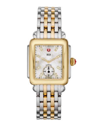 Deco 16 Two-Tone 18-Diamond Watch Head & 16mm Deco Bracelet Strap