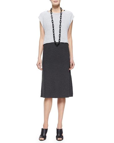 Soft-Spun Crop Top & Hemp Twist Henley Tank Dress