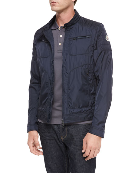 Moncler Donatien Nylon Jacket, Navy