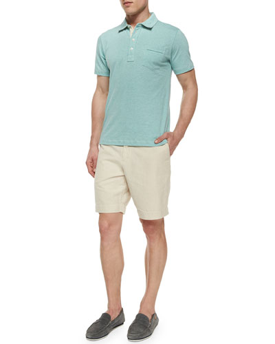 Pensacola Jersey Polo Shirt & Wynn Triple-Washed Chino Shorts