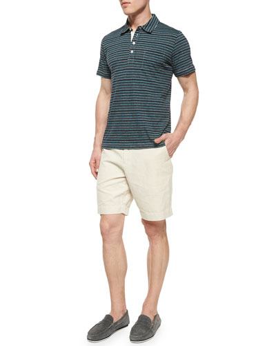 Pensacola Striped Jersey Polo Shirt & Wynn Triple-Washed Chino Shorts