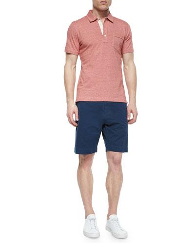 Pensacola Jersey Polo Shirt & Wynn Flat-Front Woven Shorts