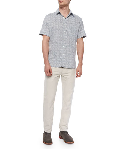 Claude Printed Short-Sleeve Shirt & Ashland Five-Pocket Pants