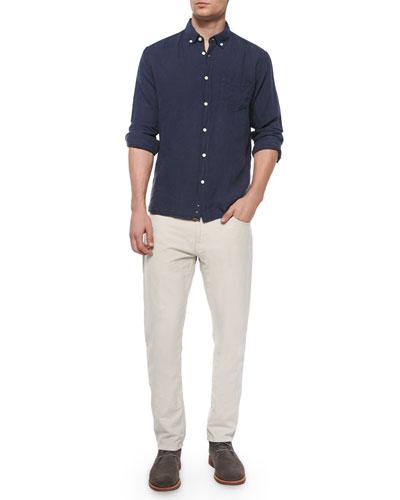 Jonathon Solid Long-Sleeve Linen Shirt & Ashland Five-Pocket Pants