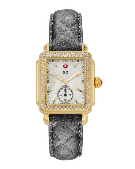 16mm Deco Diamond Watch Head, Gold