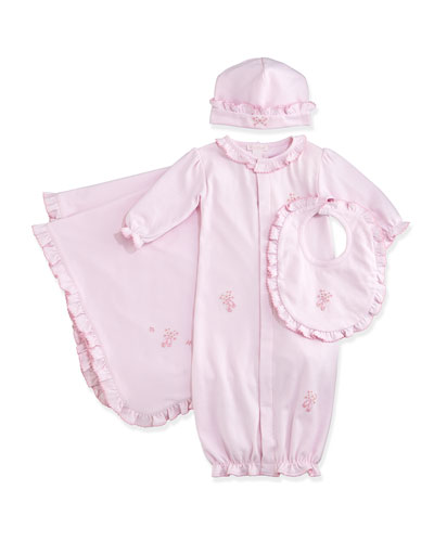 Scat Pirouette Sleep Gown, Baby Hat, Bib & Blanket