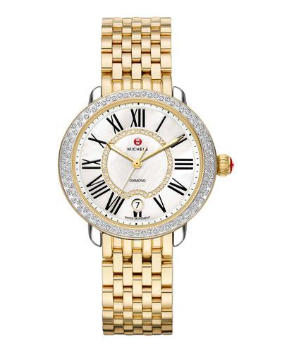 MICHELE Serein 16 Two-Tone Diamond Watch Head &