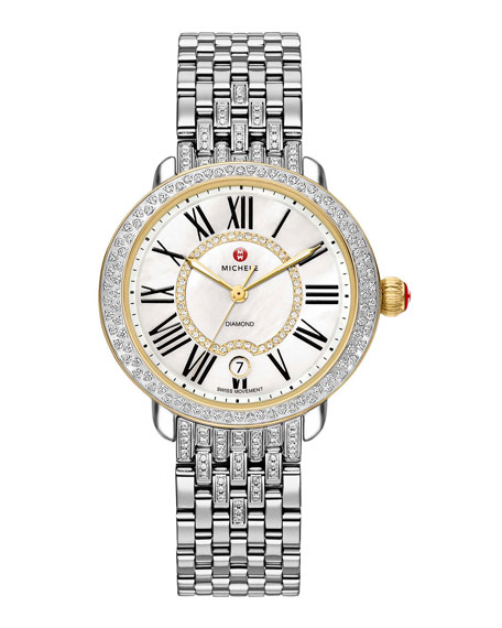 MICHELE 16mm Serein Diamond Watch Head, Two-Tone