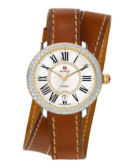 MICHELE 16mm Serein Diamond Watch Head, Two-Tone