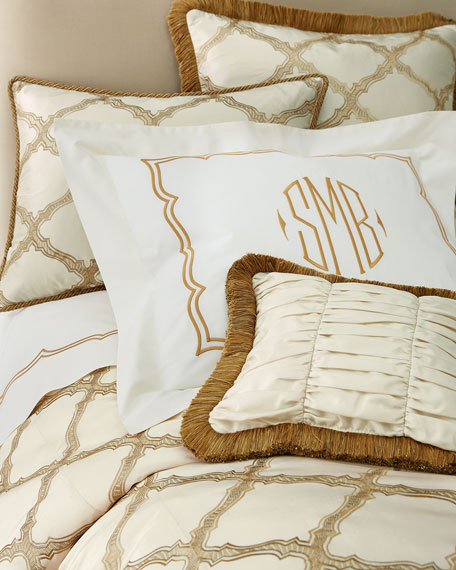 King Versailles Embroidered-Frame Sham