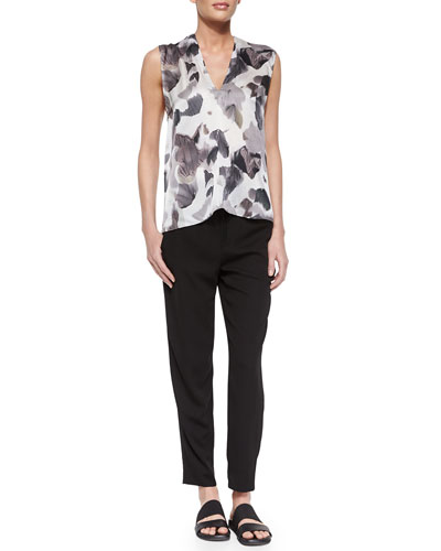 Crypsis-Print Sleeveless Top & Revolve Drawstring Ankle Pants