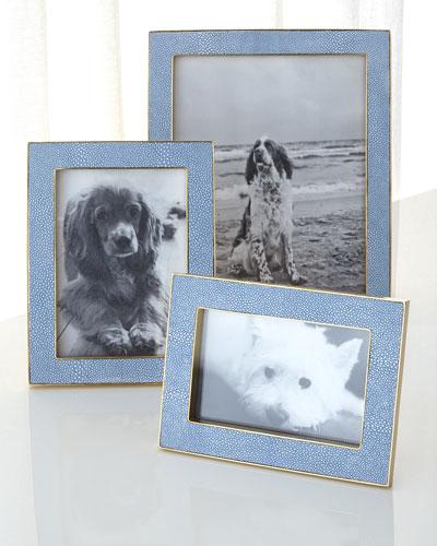 Blue Shagreen Frames