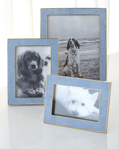 "Blue Shagreen 8"" x 10"" Picture Frame"
