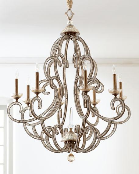 John-Richard Collection Beaded Elegance Eight-Light Chandelier